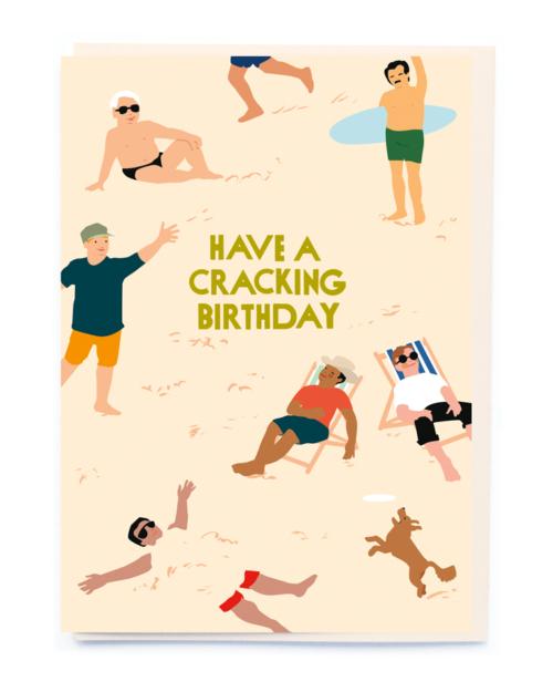 boys on the beach card by Noi