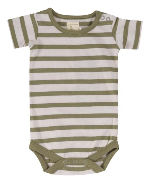 summer baby body breton stripe olive