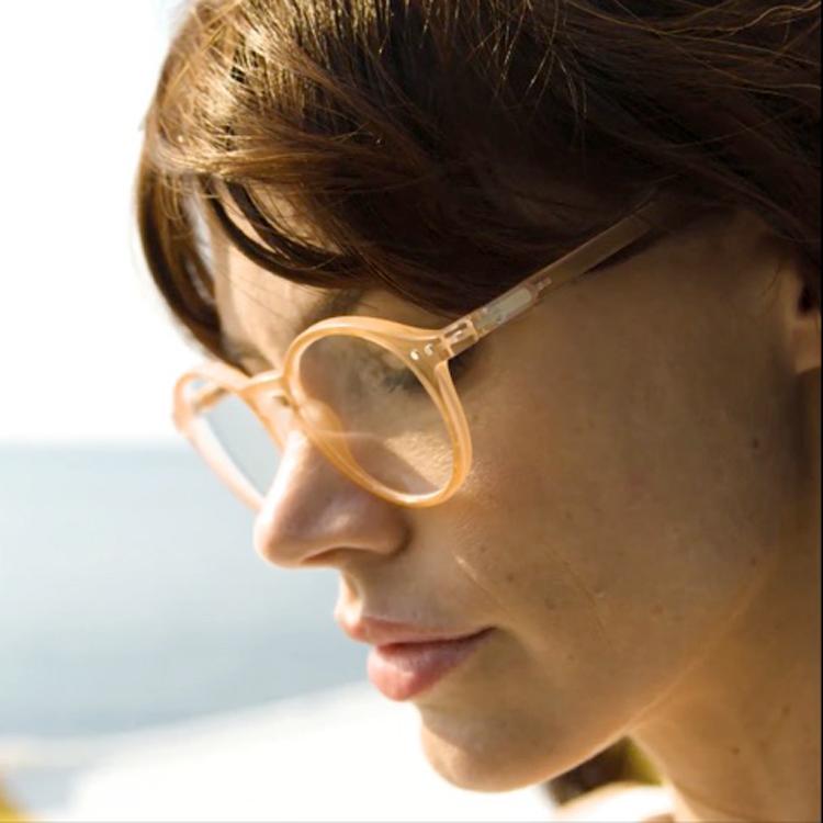 glazed ice reading glasses frame D sun stone by Izipizi